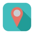 29346126 - map pointer. single flat color icon.