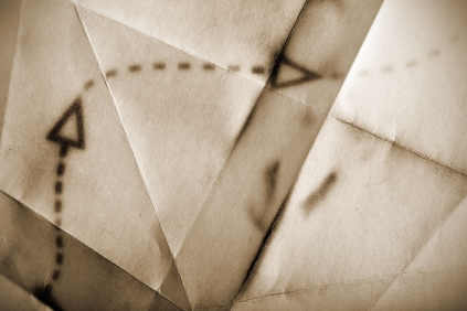 47050396 - fragment of an ancient map